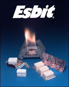 Esbit Pocket Stove and Solid Fuel Tabs (Incl: 6 pieces of 14 Gram)
