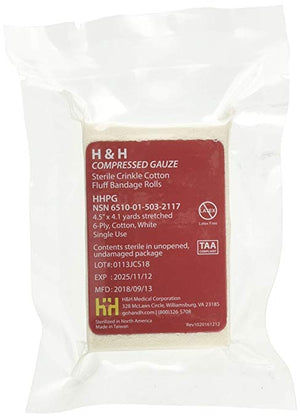 Compressed Gauze by H & H Medical (NSN:  6510-01-503-2117)