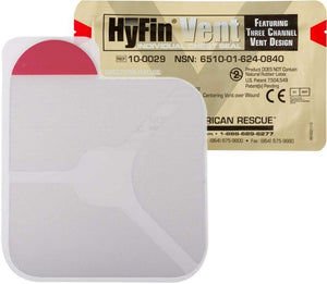 HyFin® Vent Chest Seal (Individual) by North American Rescue (NSN:  6510-01-624-0840)