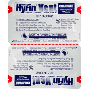 HyFin® Vent Compact Chest Seal (Twin Pack) by North American Rescue