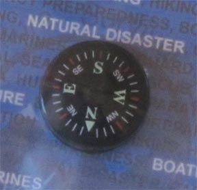 Night Tracker Button Compass