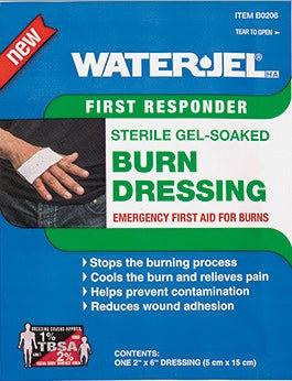 "Water Jel First Responder Burn Dressing 2"" x 6"""
