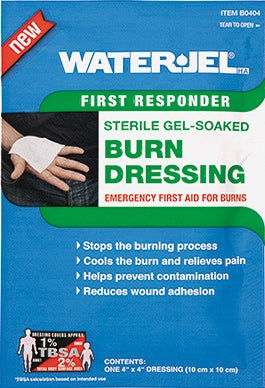 "Water Jel First Responder Burn Dressing 4"" x 4"""