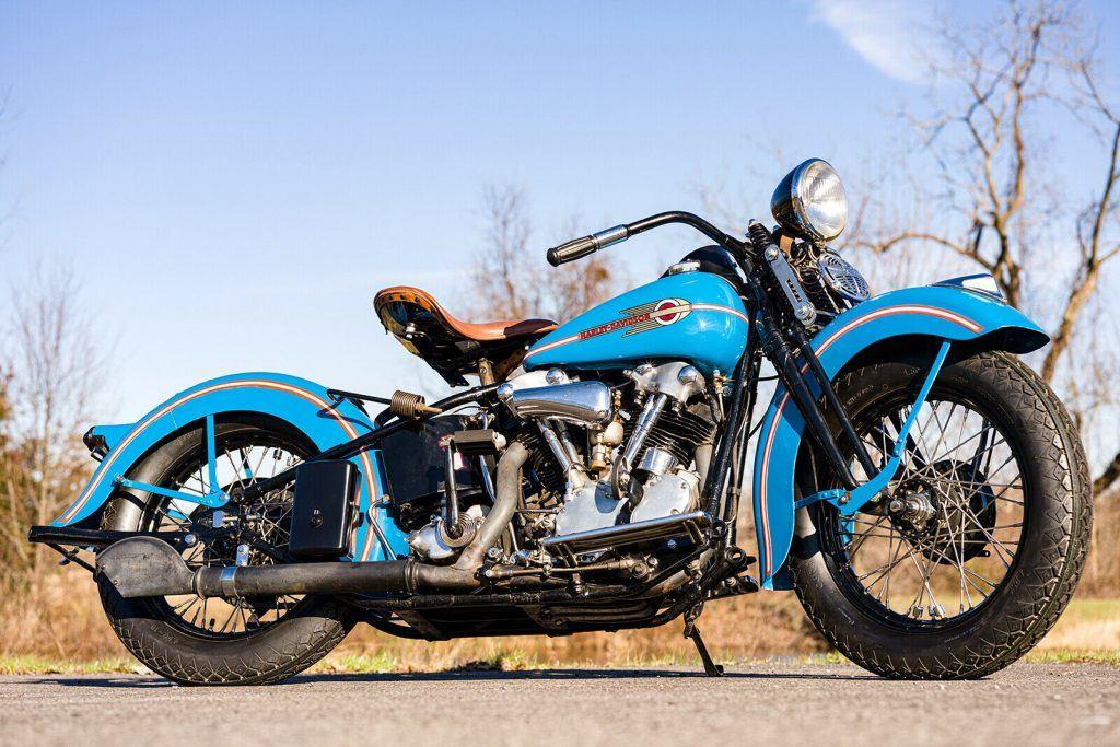 1938 Harley Davidson Flathead Knucklehead EL Vintage Antique Restored MINT