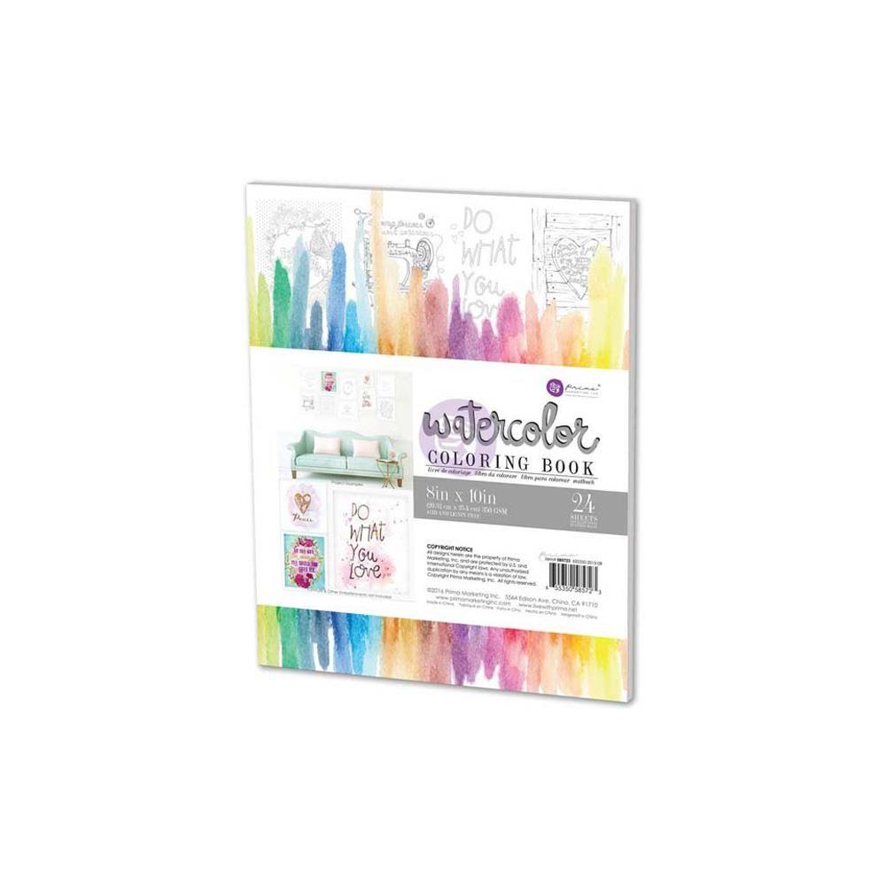 Decor Quotes Watercolor Coloring Book 8x10   585723   Prima Marketing