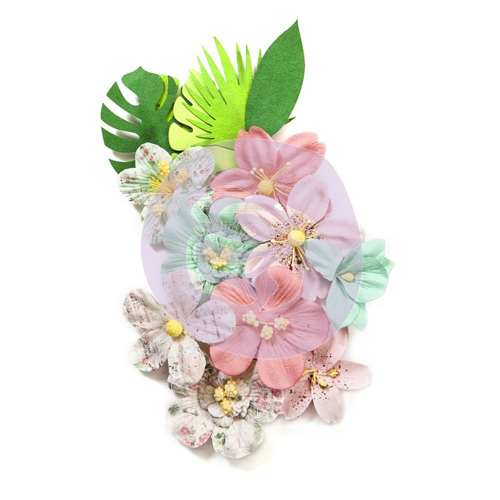 Havana Mulberry Paper Flowers Leaves 597368 Prima Marketing