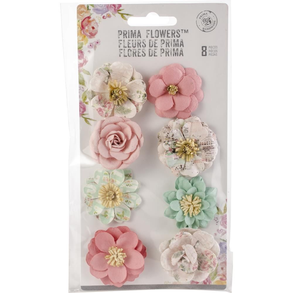 Havana Mulberry Paper Flowers 8pkg 597399 Prima Marketing