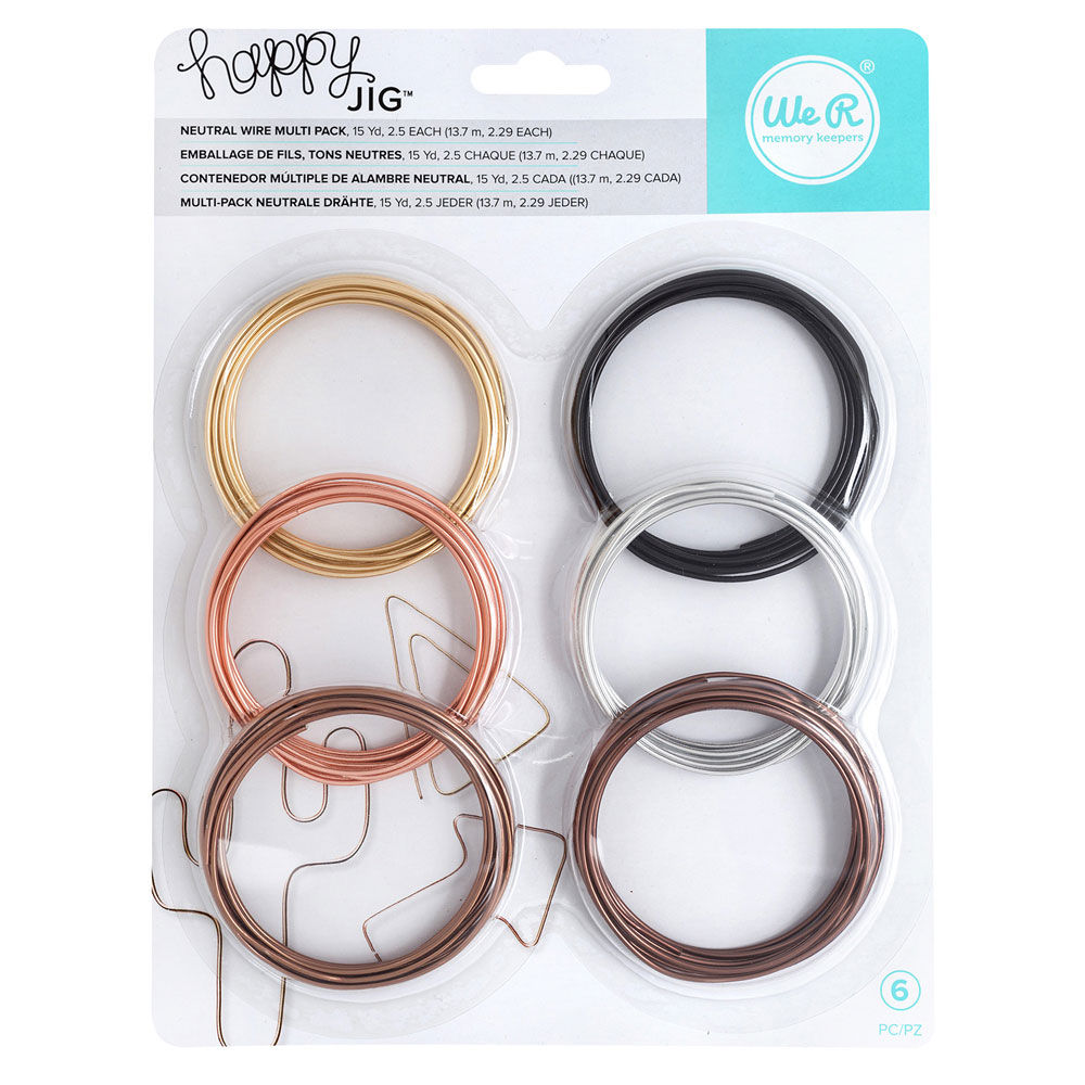Neutral - Happy Jig Color Wire 6pkg | 6602668 | We R Memory Keepers