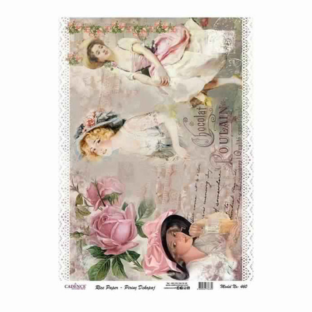 Queen Roses Rice Decoupage Paper Cad460 Cadence
