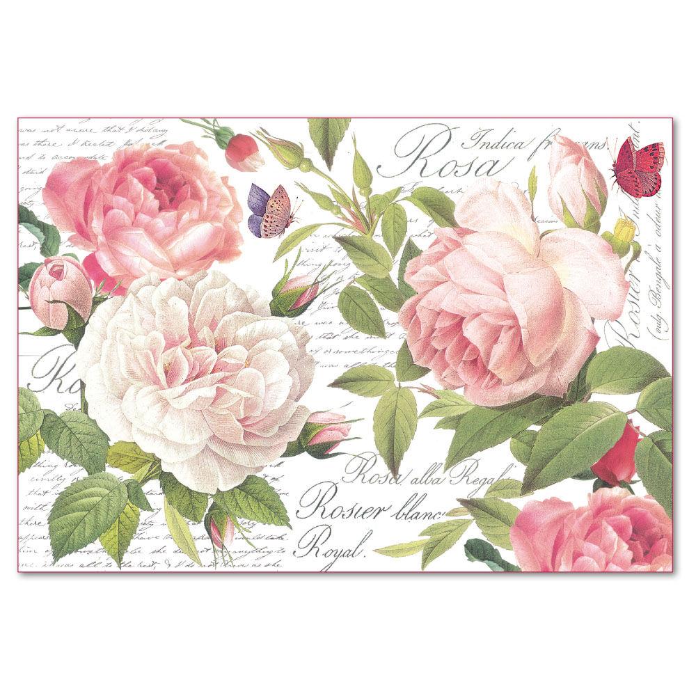 Decoupage Rice Paper 48x33 Vintage Rose