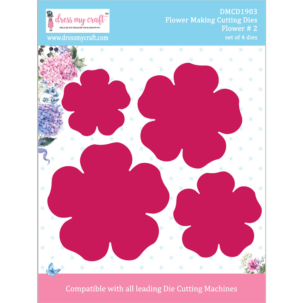 Scrapbooking Card Making Line Die Cut Embellishments Card Topper Flower Border
