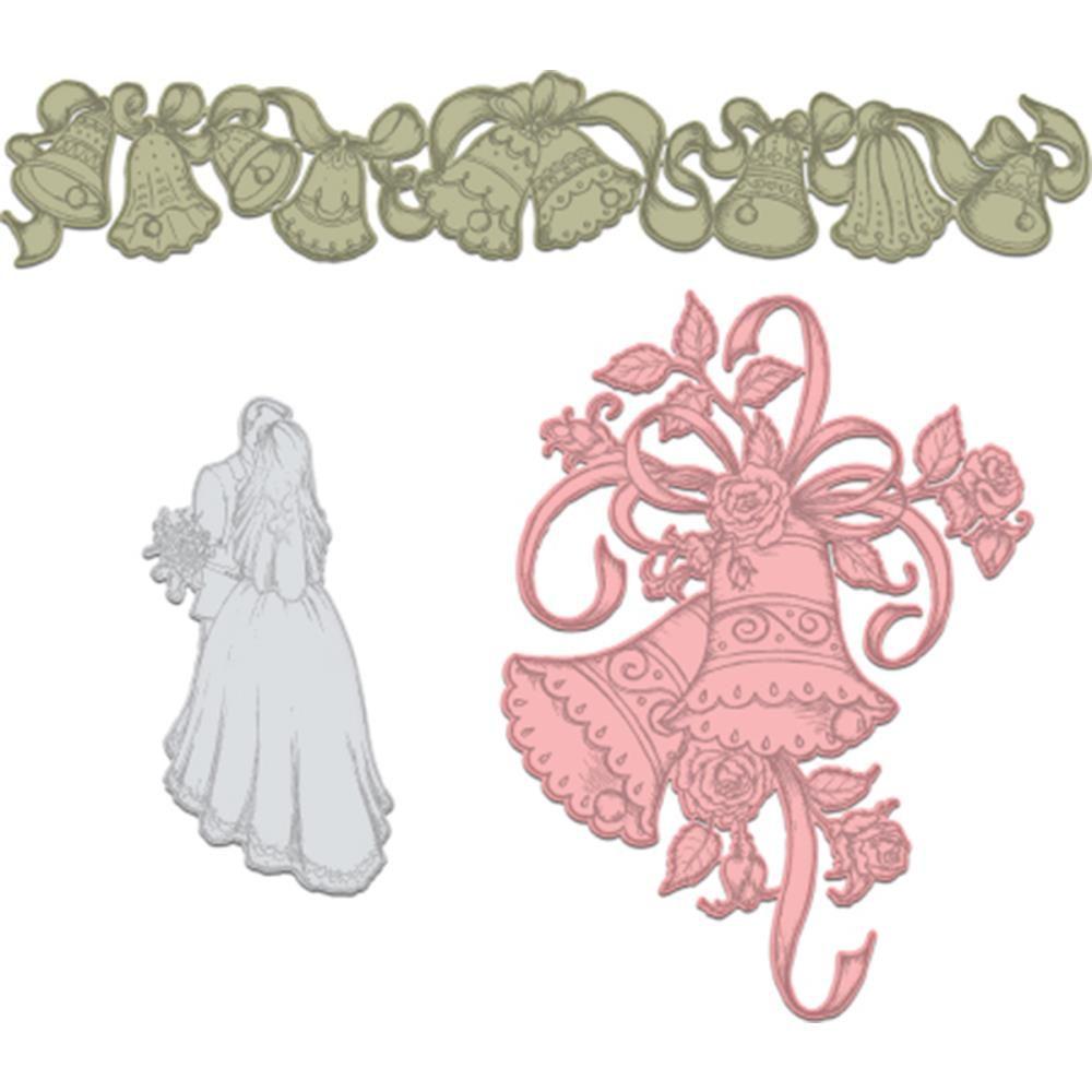 Classic Wedding Bells - Die | Hcd1-7143 | Heartfelt Creations