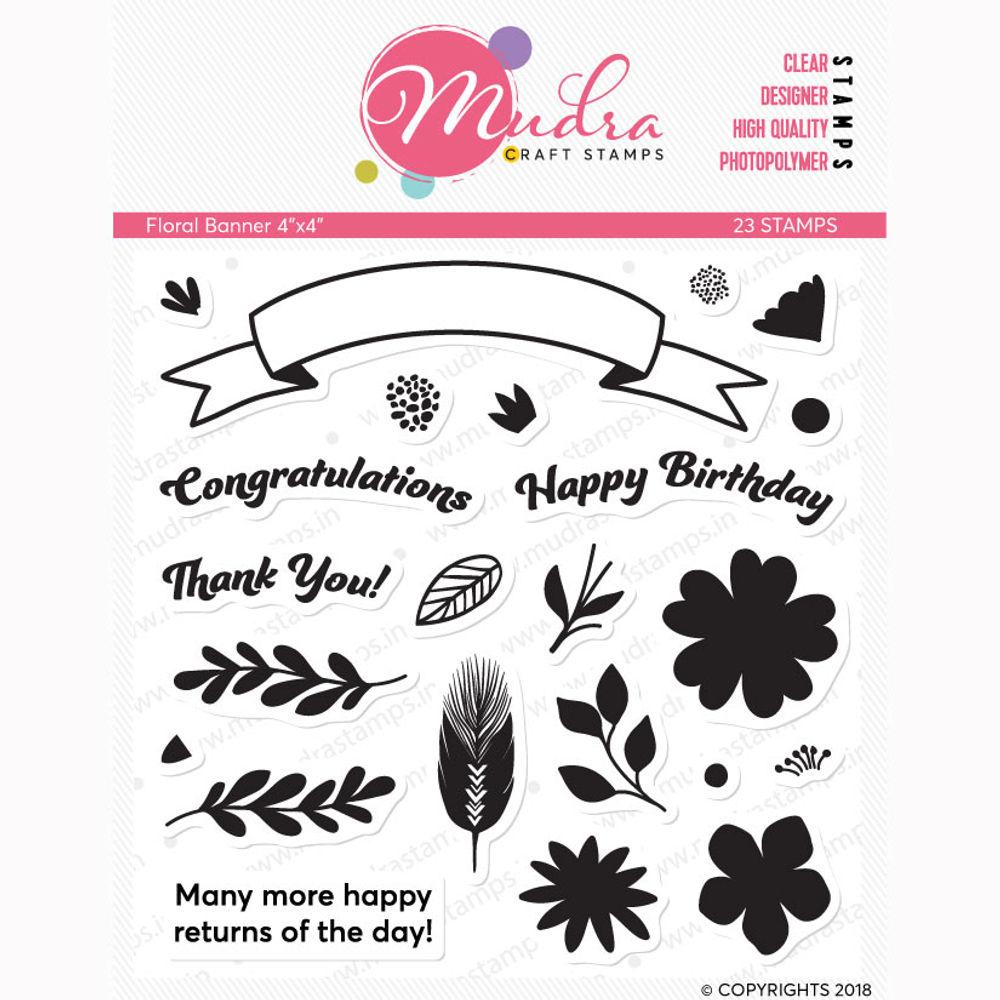 Image result for mudra floral banner stamp