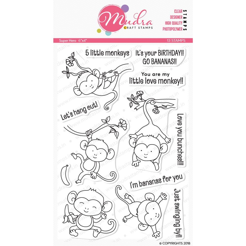Image result for monkey stamp mudra craft stamp