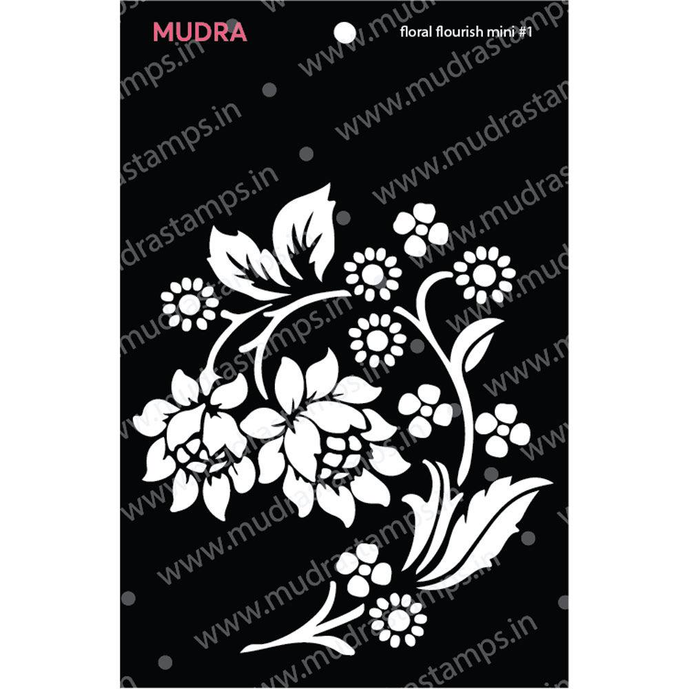 Image result for mudra craft stamp floral stencil