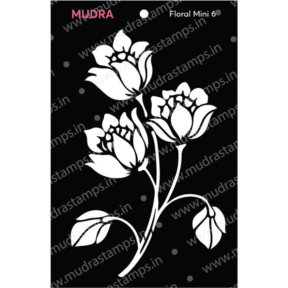 Image result for mudra floral mini stencil