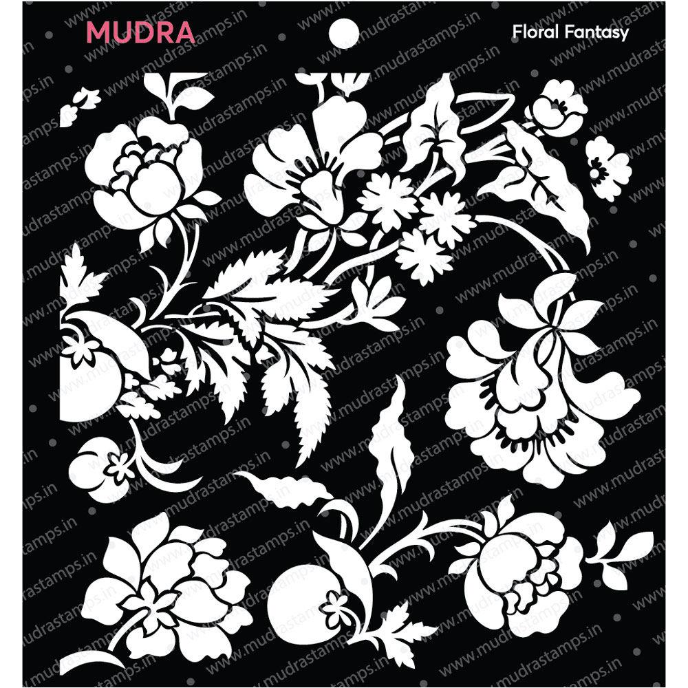 Image result for mudra floral fantasy stencil