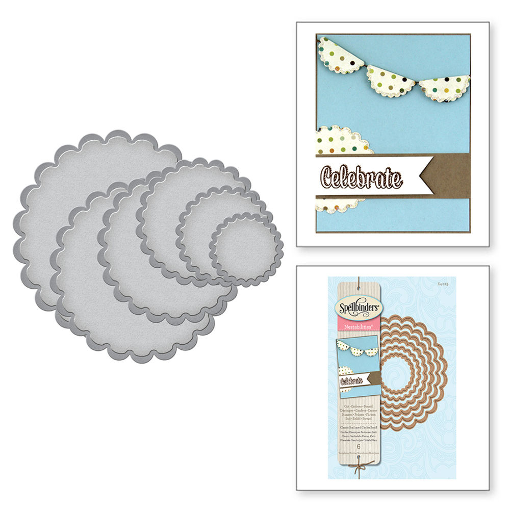 Classic Scalloped Circles Small - Die | S4-125 | Spellbinders