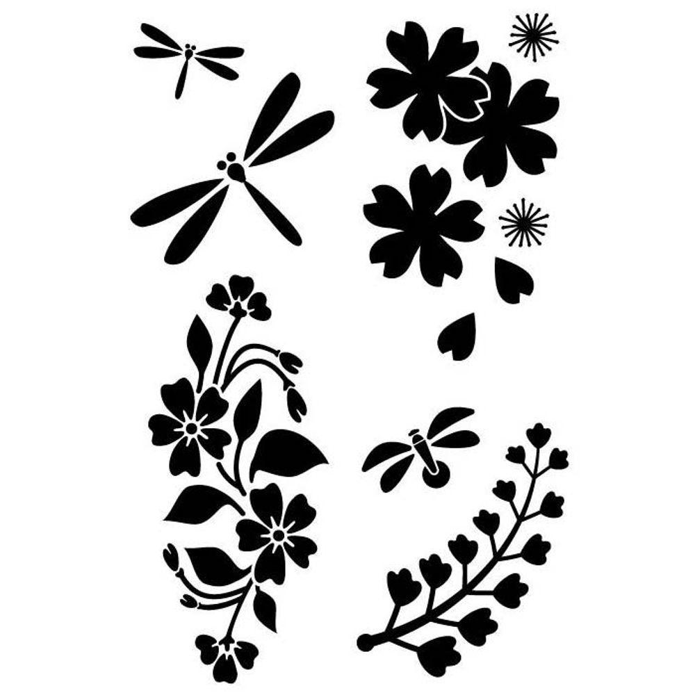 Beau Japanese Garden   Stencils