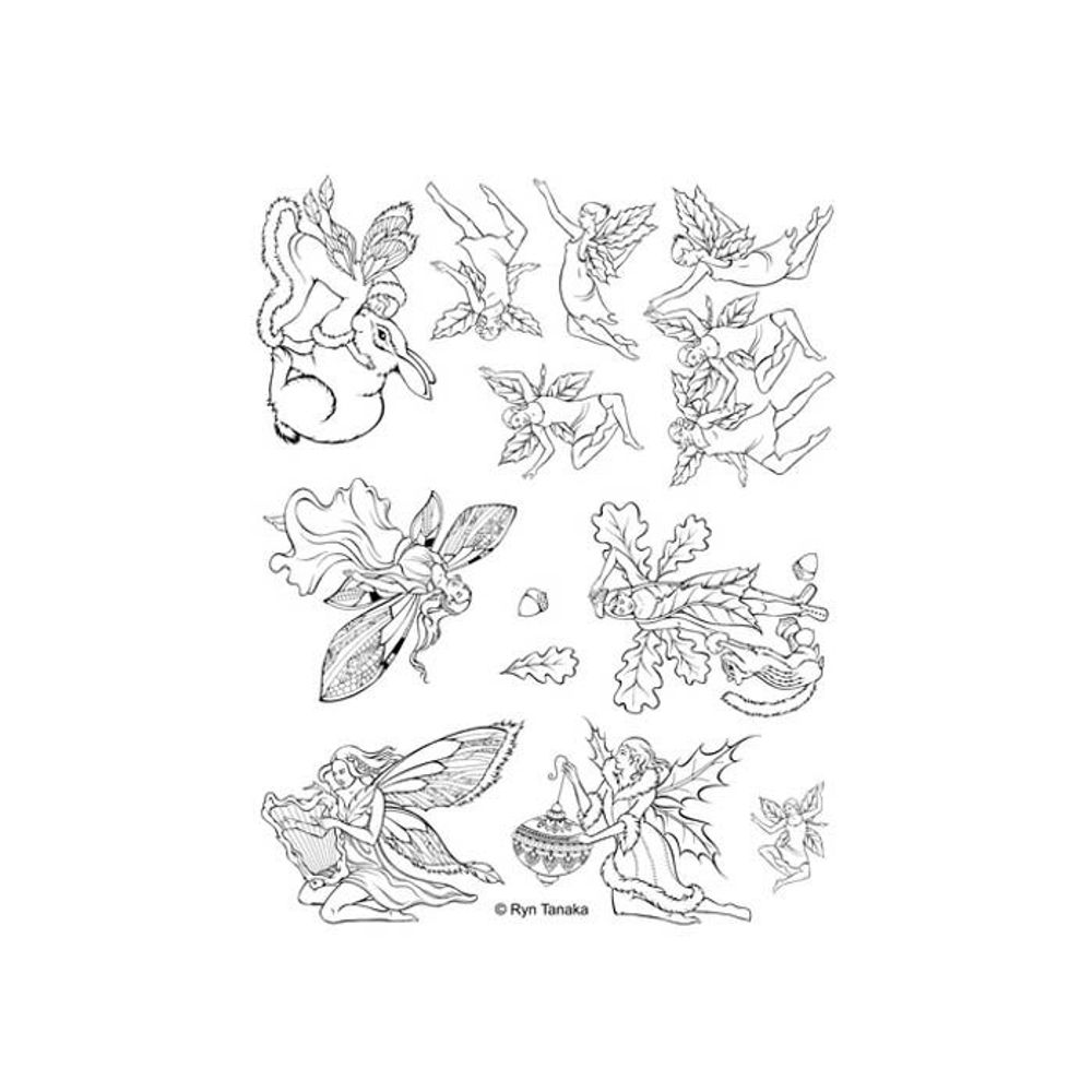 UM-L6 Designs by Ryn Unmounted Rubber Stamp Set  Faeries