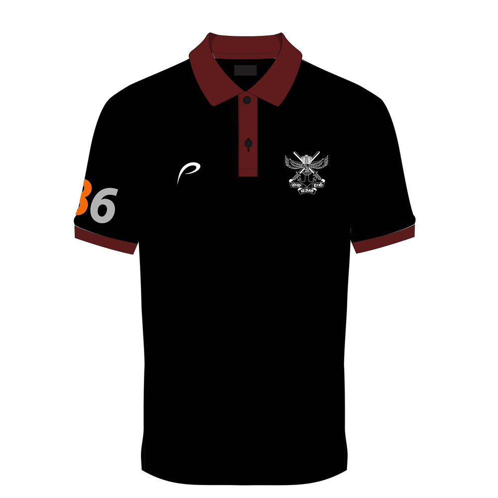 c237a65d9 Proline Black Collar Neck Satin Short Sleeve Graphic Cotton T-shirt ...