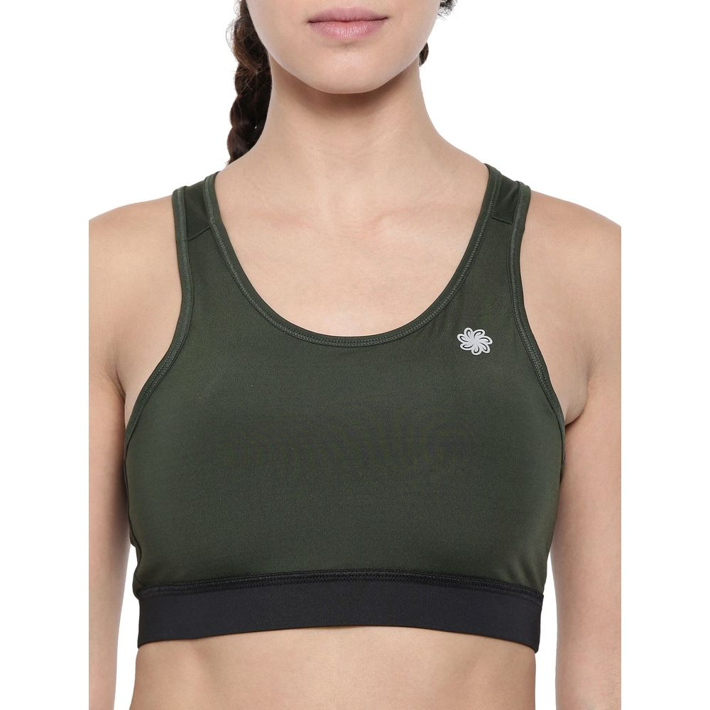 f4fd3305b Proline Active Women Olive Black Sports Bra