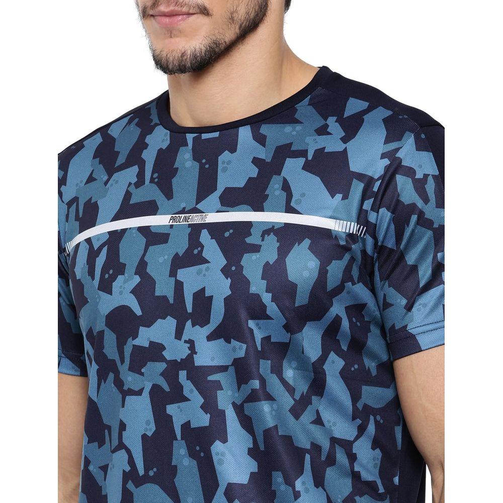 972b29dcebbedd ... Proline Active Navy Crew Neck Short Sleeve Front Panel   Sleeve  Sublimation Polyester Tee Shirt ...