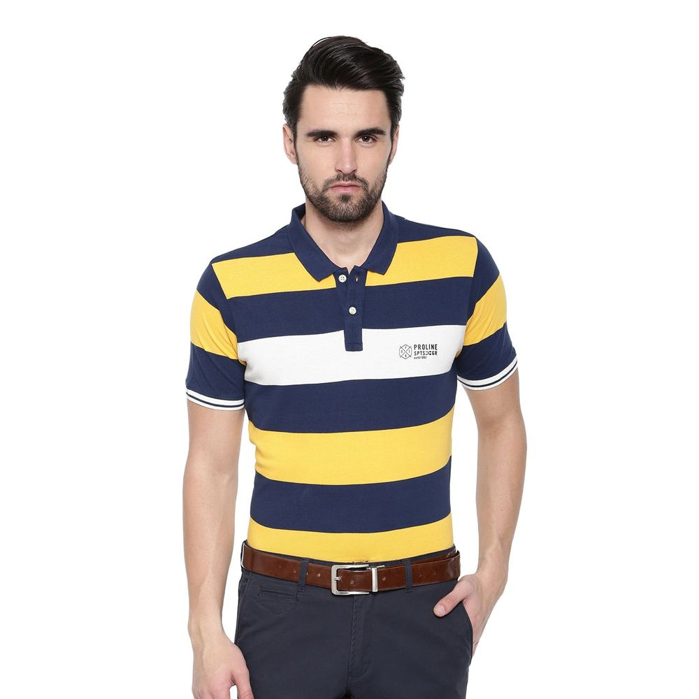 5aa5fc691 Proline Mens Yellow Comfort Fit Polo Engineered Yarn Dyed Short Sleeve Tee  | Pv15201yl