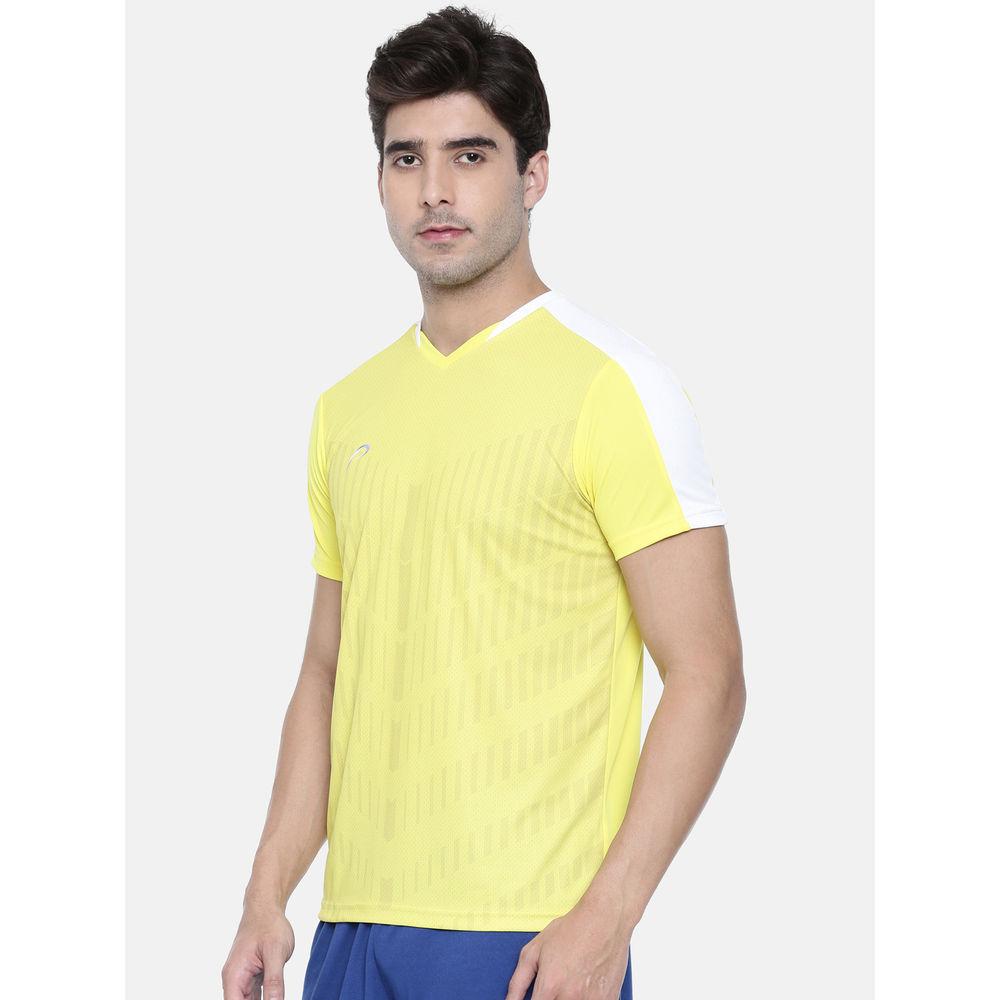 443d6c4c Proline Active Blazing Yellow Satin Short Sleeve V- Neck Comfort Fit  Graphic Tee Shirt | Tjs010byl