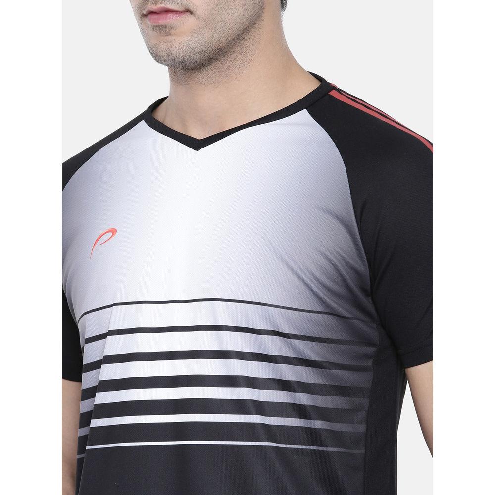 3c39690d Proline Active Black Raglan Short Sleeve V- Neck Comfort Fit Graphic Tee  Shirt