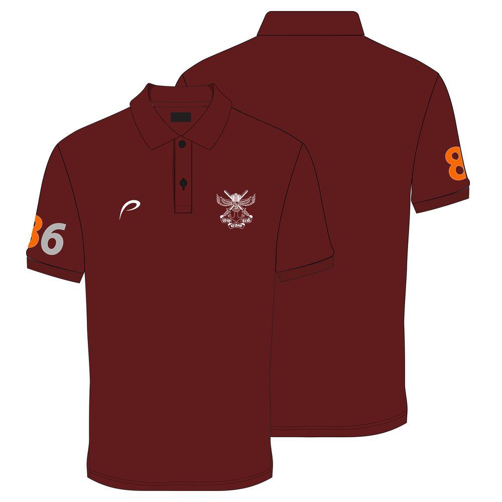 b79a13ac4 Proline Marron Collar Neck Satin Short Sleeve Graphic Cotton T-shirt ...