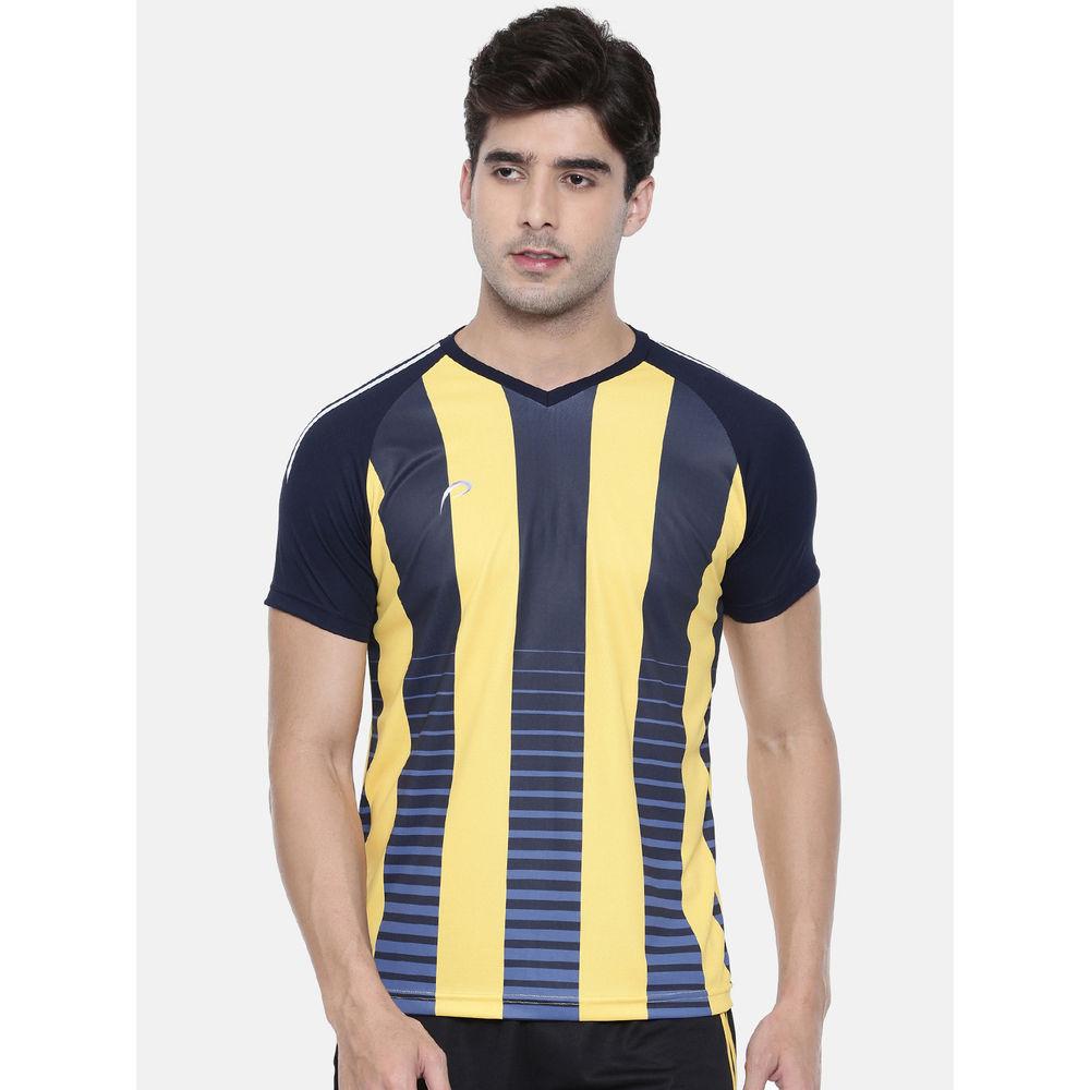 58a379be Proline Active Gold Yellow Raglan Short Sleeve V- Neck Comfort Fit Graphic  Tee Shirt | Tjs019byl