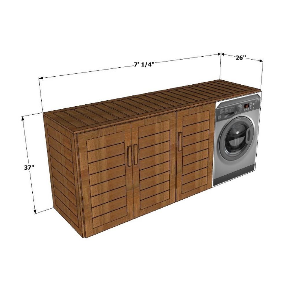 Azula Washing Machine Cabinet With Storage