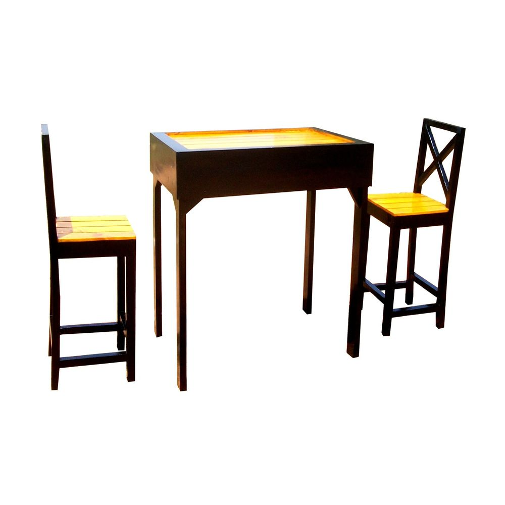 Dining Table With Two Chairs: Vida High Dining Table With 2 Chairs