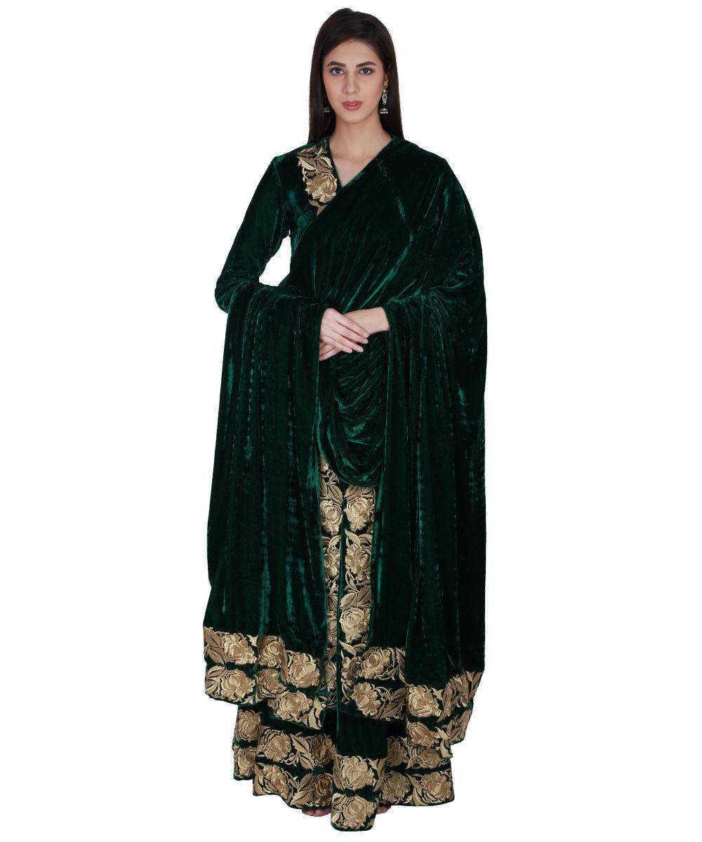 c0cae9fd452 Buy Emerald Green Silk Blouse - Nils Stucki Kieferorthopäde