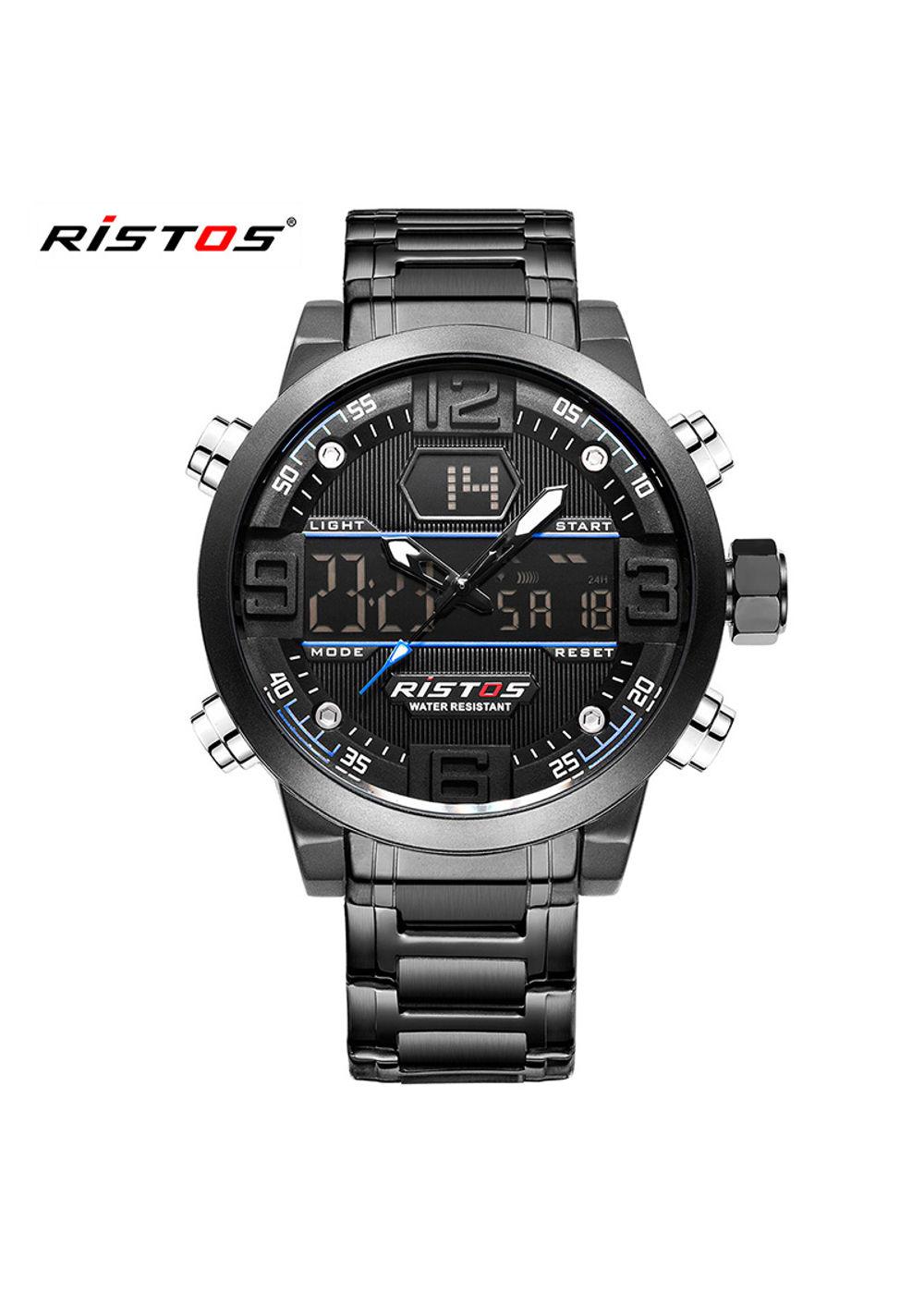 RISTOS-9338 Black Analog-Digital Chronograph Watch For-Men