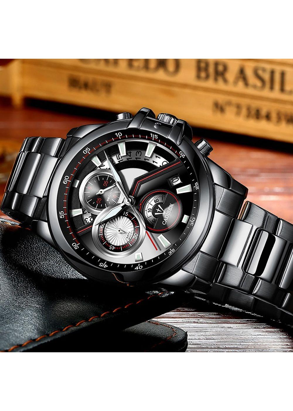 0ab2b572f638 Cadisen-analog-chronograph Watch For-menblack