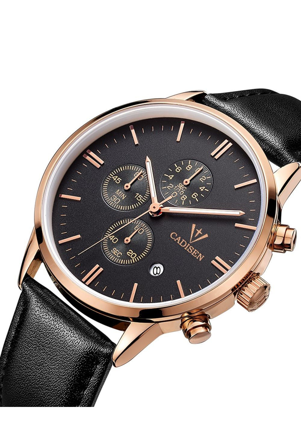 a9060253ffae Cadisen-ca9021-analog-chronograph Watch For-menblack-gold