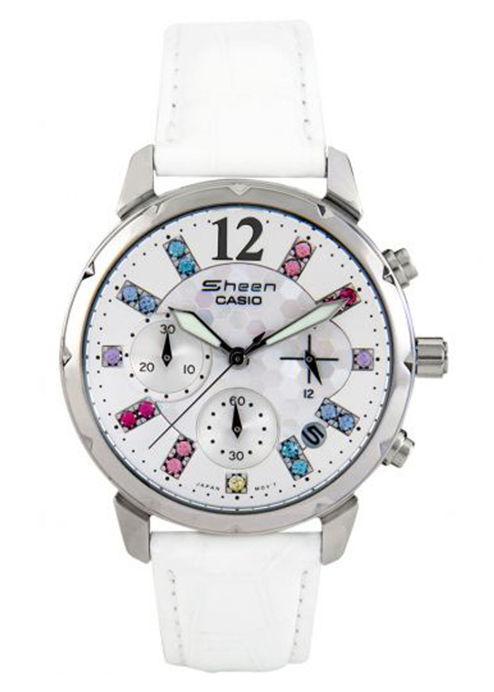 casio sheen sh 161 analog chronograph ladies watch shn 5012lp 7adr. Black Bedroom Furniture Sets. Home Design Ideas