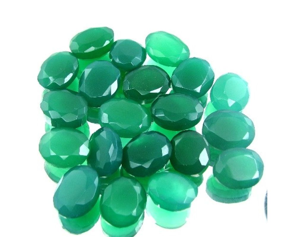 Details about  /6x8 mm Oval Green Onyx Cabochon Loose Gemstone Wholesale Lot 20 pcs