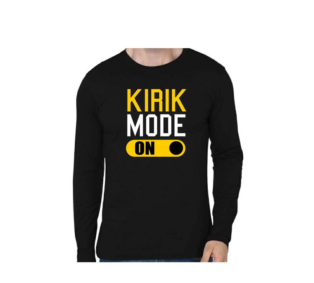 ef8973f72b1b KIRIK MODE Black Color Full Sleeve T-Shirt