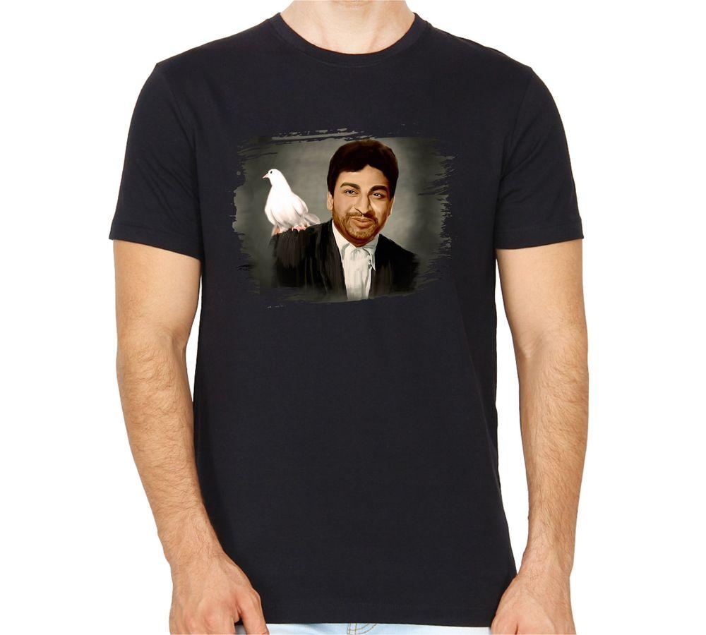 ee548c2876bf dr rajkumar tshirt round neck black colour with high quality print