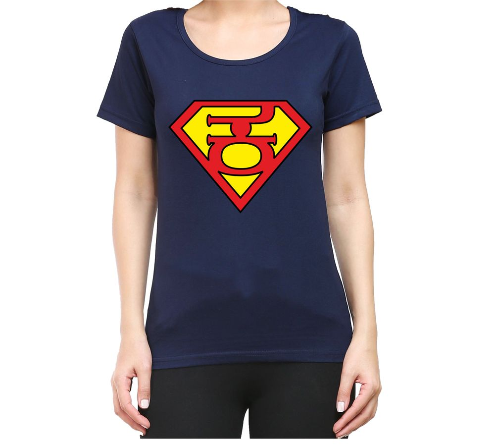 87c4959c5e90 Super Kannadati Women's Navy Blue Color Round Neck T-Shirt