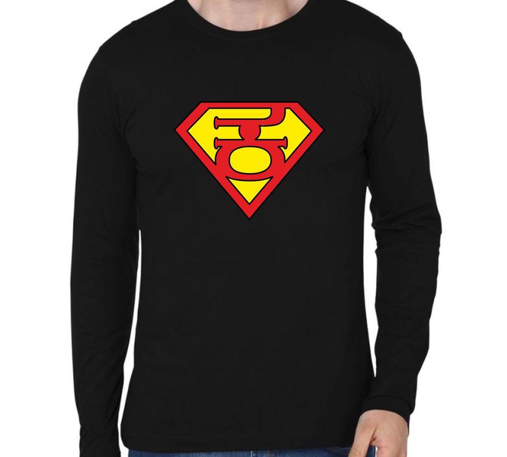 4895b2f764f4 Super Kannadaiga Black colour full sleeve Kannada T-shirts