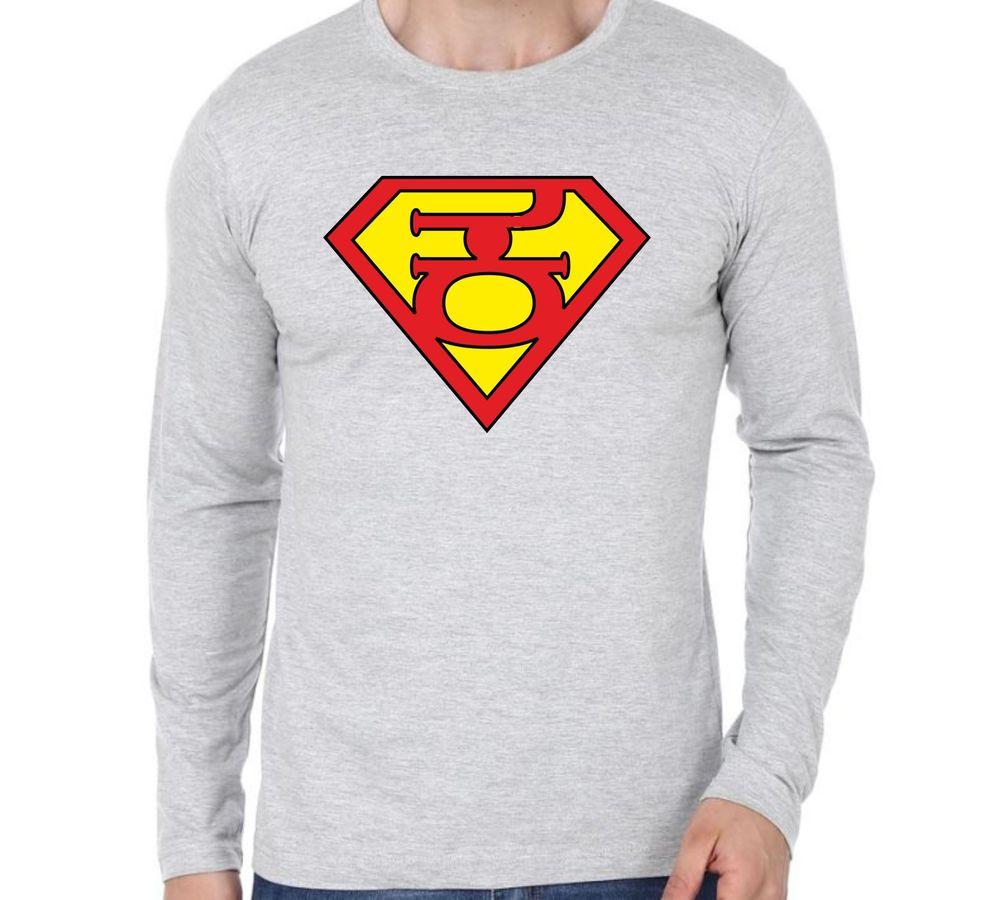 e1c316e59d17 Super Kannadaiga Grey colour full sleeve Kannada T-shirts