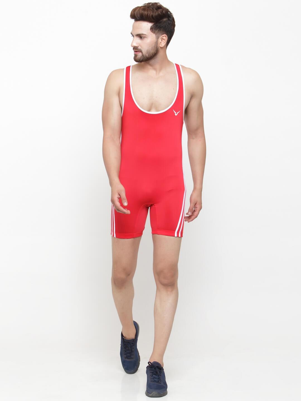 Invincible Men's Reversible Wrestling Suit