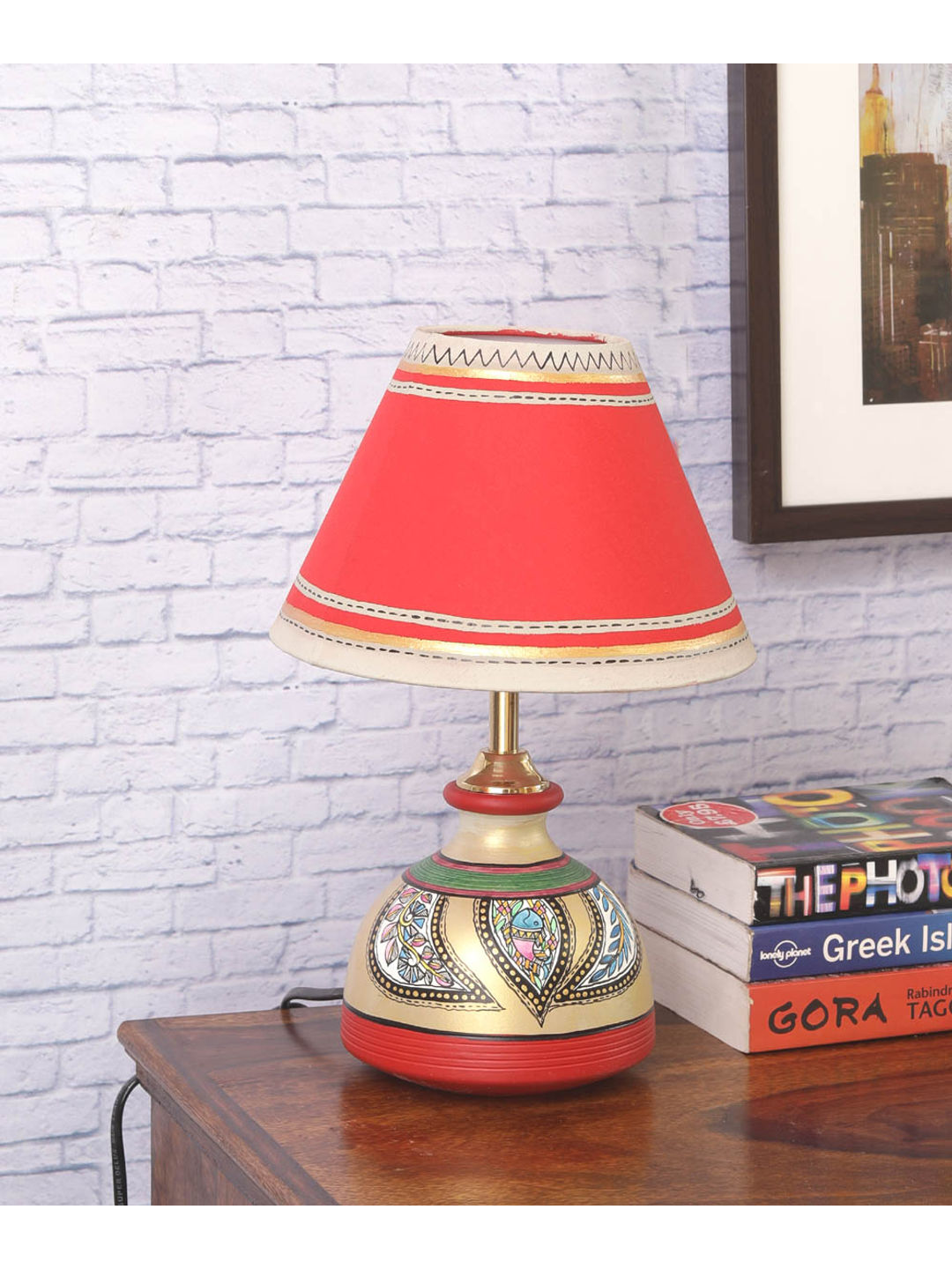 Madhubani multicolored terracotta lamp vacl025 madhubani multicolored terracotta lamp aloadofball Image collections