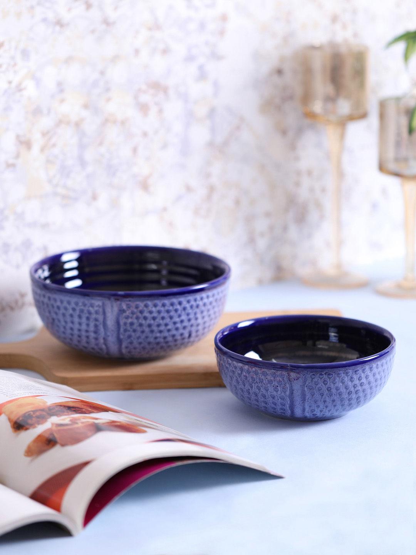 Blue Studio Ceramic Serving Bowls Set Of Two Vnckw001