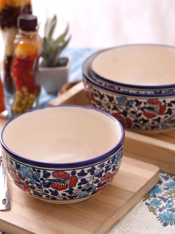 Hand Made Ceramic Serving Bowls Set Of Three Vsekw024