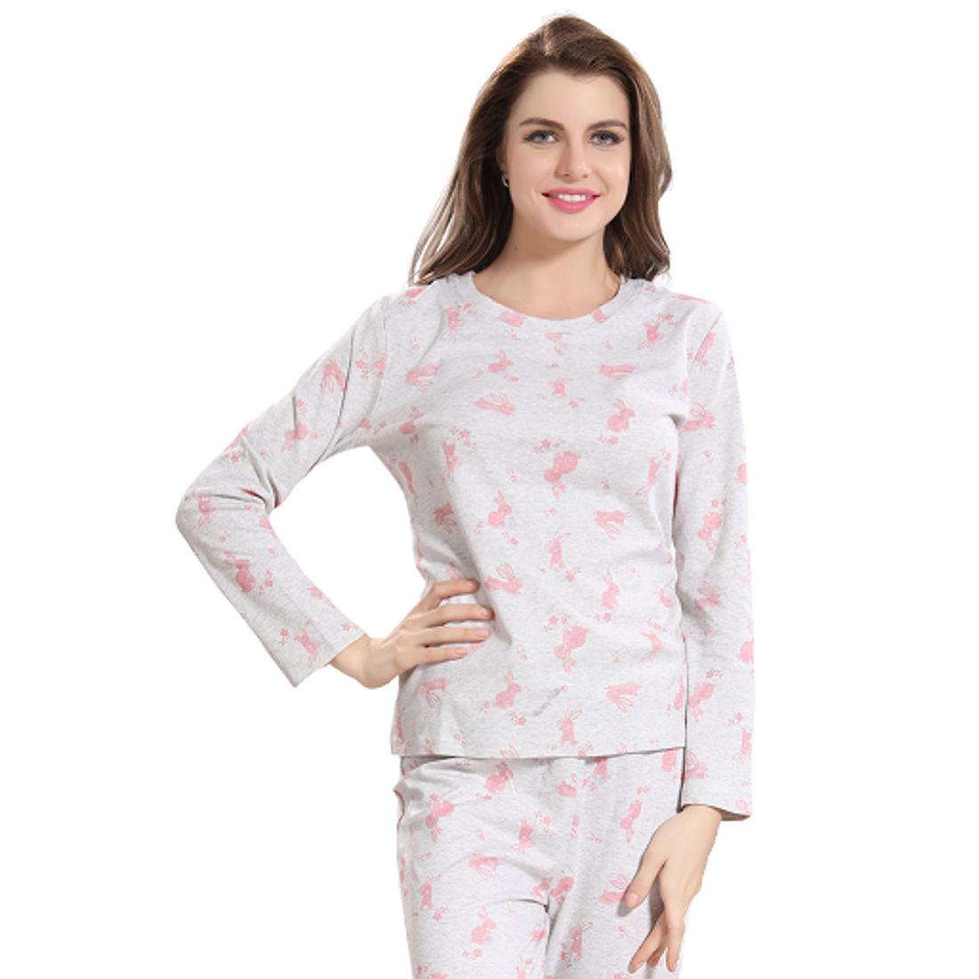 9271190012 Rabbit Print Pajama Set